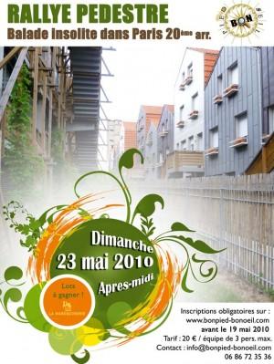 Rallye pédestre dans Paris le dimanche 23 mai 2010