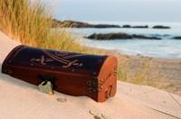 Coffre plage trésor
