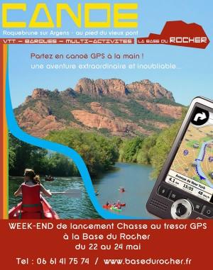 Chasse au trésor GPS en canoe
