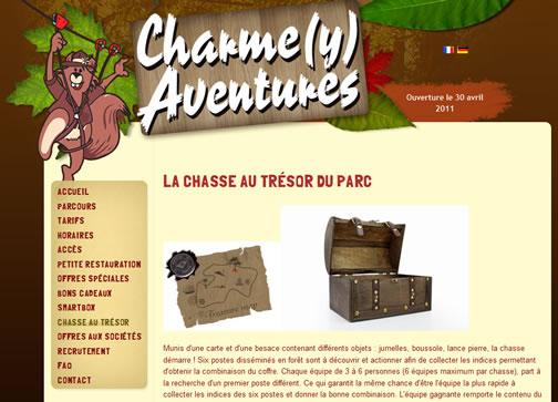 Chasse au trésor au parc Charme(y) Aventures