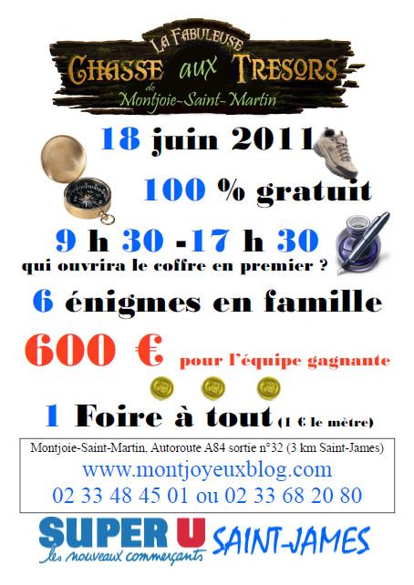 Chasse aux trésors à Montjoie-Saint-Martin