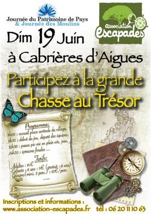 Chasse au trésor à Cabrière d'Aigues