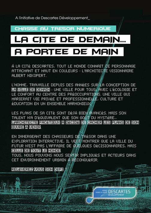 Chasse au trésor numérique à la Cité Descartes
