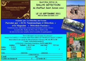 Rallye Détection du Chaffaut Saint Jurson - 4e édition