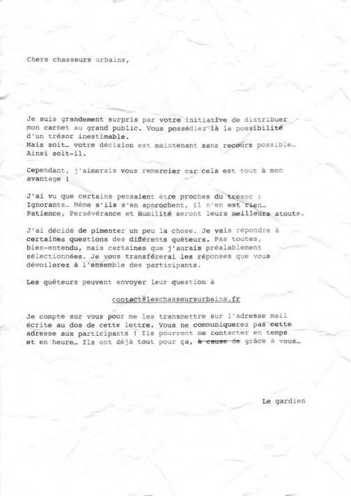 Lyon - Lettre du Gardien