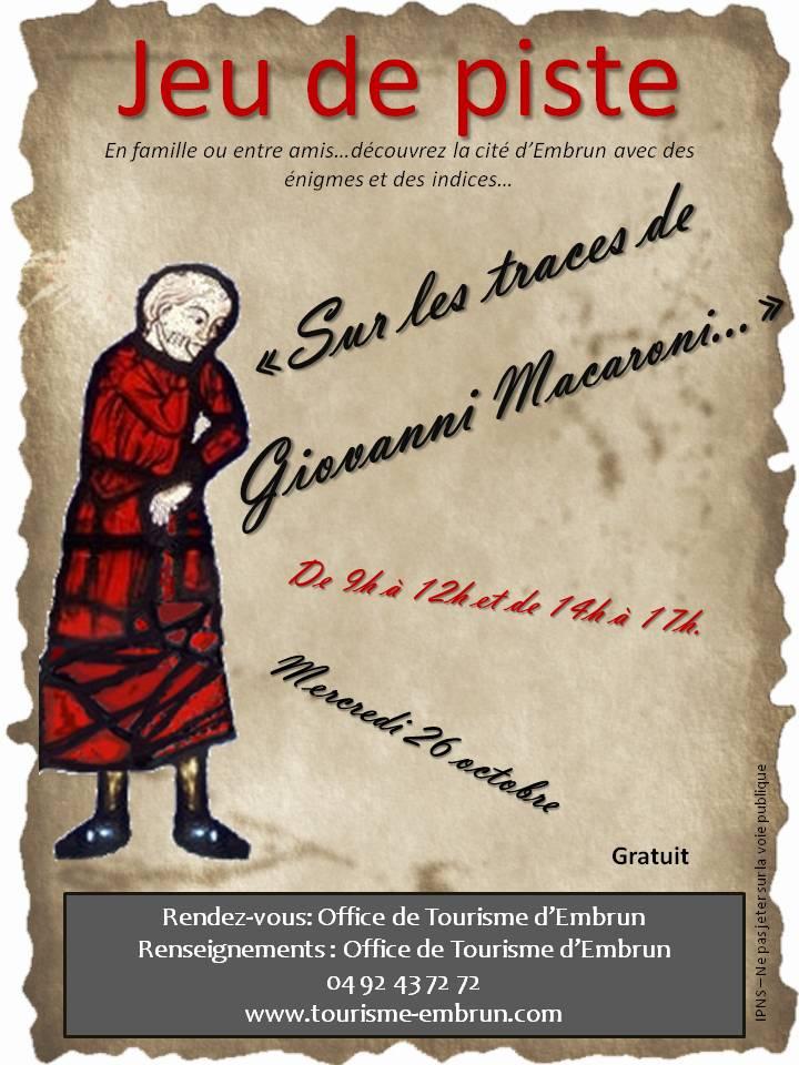 Embrun : Sur les traces de Giovanni Macaroni