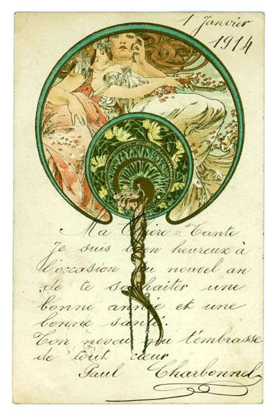 carte postale Mucha