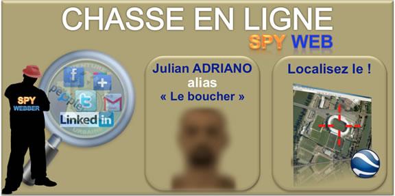 Spy Web - Chasse au trésor en ligne - Carte de recherche