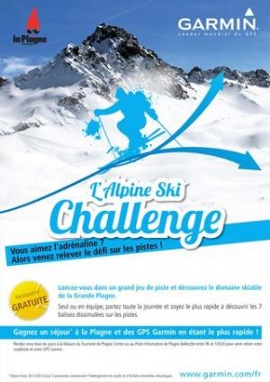 Alpine Ski Challenge - Randonnées Geocaching Garmin - La Plagne