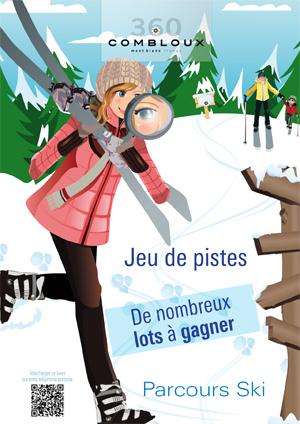 Combloux : jeu de piste en skis