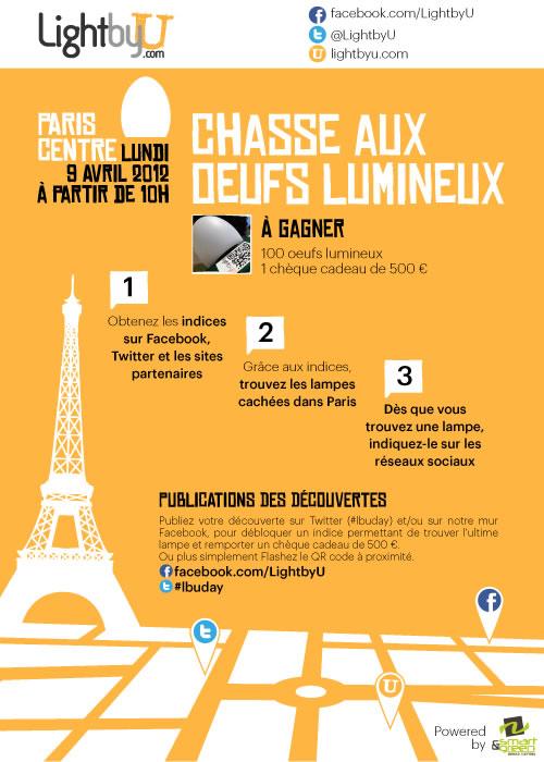 Paris : chasse aux oeufs lumineux