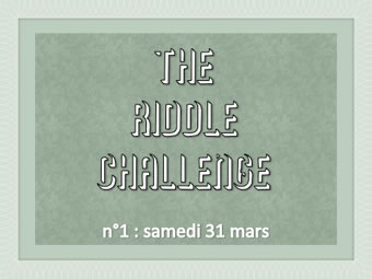 The Riddle Challenge