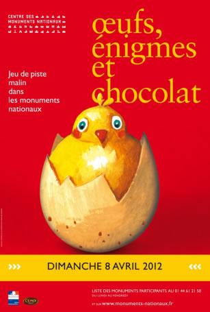 Jeu de piste malin dans les monuments nationaux - Pâques - Oeufs, énigmes et chocolat