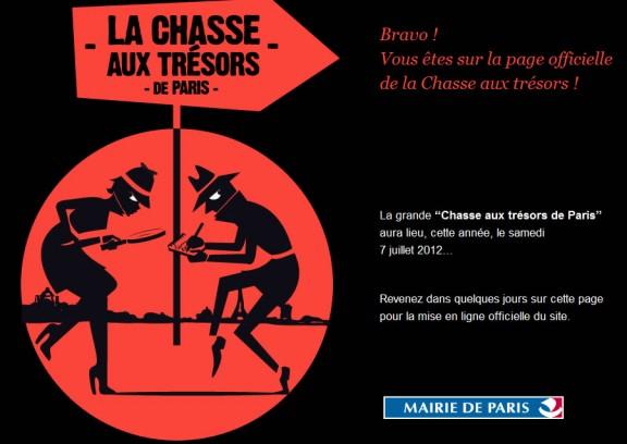 Chasse au trésors Paris 2012