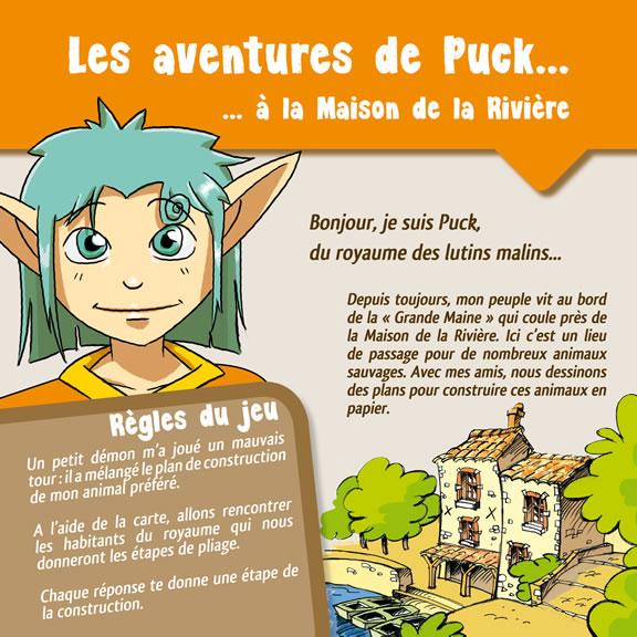 Les aventures de Puck à la maison de la Rivière