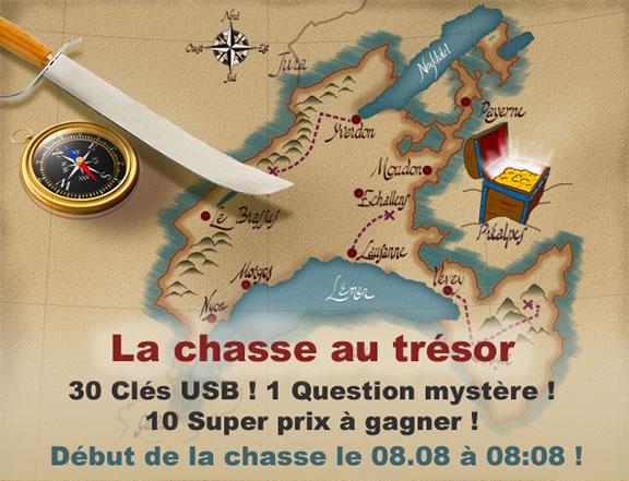 Chasse au trésor numérique en Suisse - 24 heures