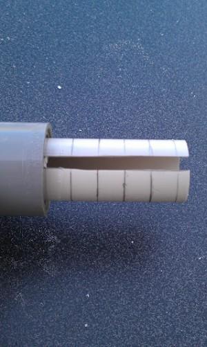 Cryptex - Photo 12 : Repérage des anneaux sur le tube