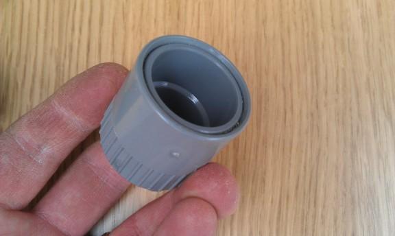 Cryptex - Photo 4 : Assemblage de l'extrémité après réduction du manchon