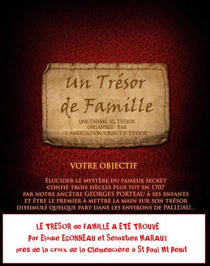 Un trésor de famille : découvert - Association Objectif Trésor