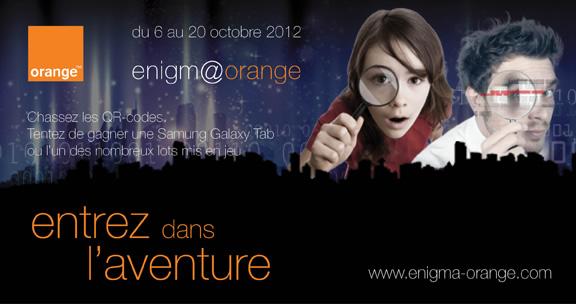 Enigm@orange - Partez à la chasse aux QR Codes pour trouver le trésor
