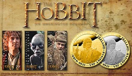Le Hobbit : les dollars or, argent et les timbres
