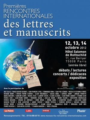 rencontres internationales des lettres et manuscrits