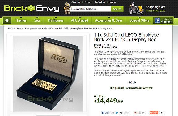 Brick Envy - Lego Or