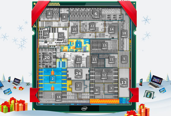 Le calendrier de l'avent de Intel