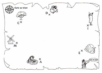 Carte Au Tresor Noir Et Blanc.Carte Au Tresor Mathematiques