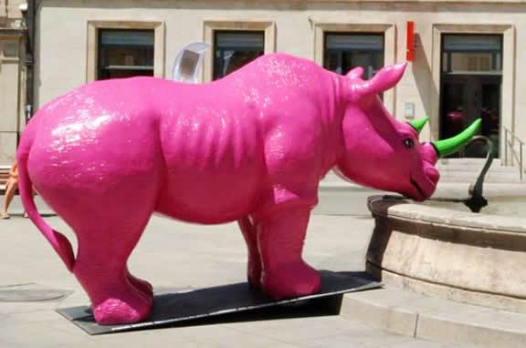 Rhinocéros rose
