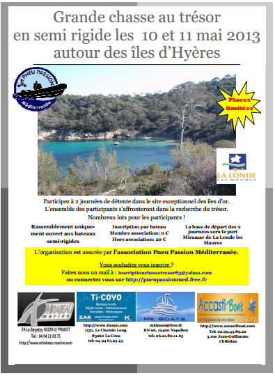 Chasse au trésor nautique - Pneu Passion Méditerranée - 2013