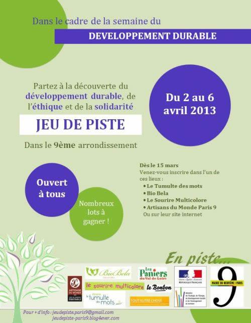 Jeu de piste - Développement durable - Paris 9e arrondissement