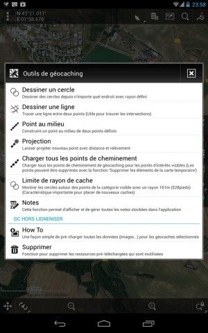 Locus – Liste des outils pour le Geocaching – Wallace