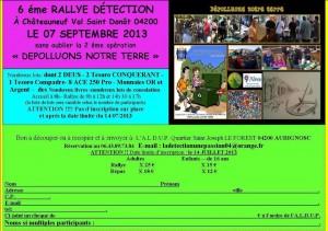 Rallye détection 2013