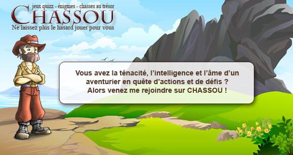 Chassou - Jeux d'énigmes, de Chasses au trésor et quiz de culture générale