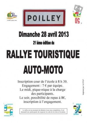 Poilley - Rallye touristique auto / moto en Ille-et-Villaine