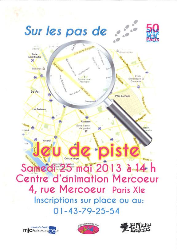 Jeu de piste - Association MJC Paris Mercoeur