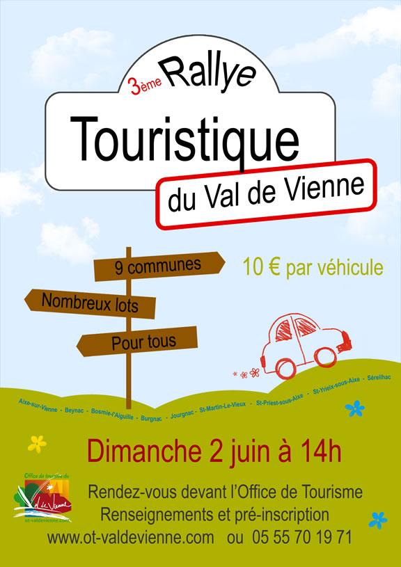 3ème rallye touristique sur le territoire du Val de Vienne