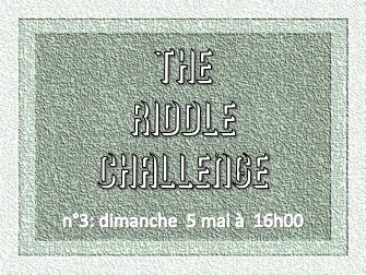 The Riddle Challenge 3