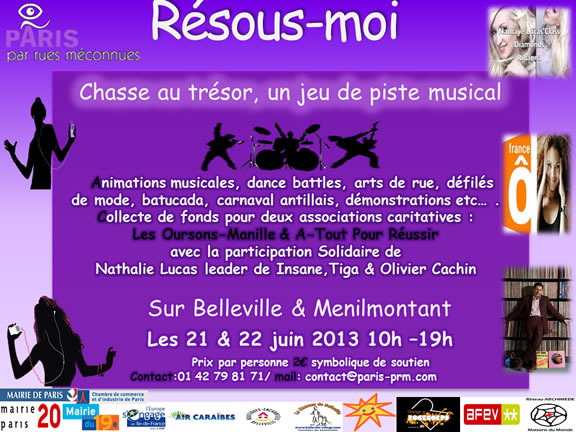 Paris - Résous-Moi : spécial musique et comédies musicales, cinéma et littérature