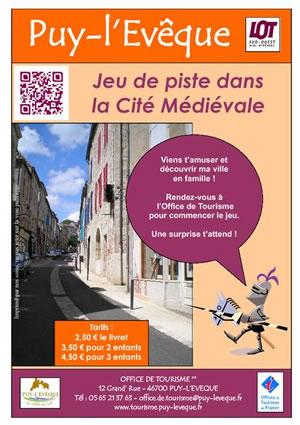 Jeu de piste dans la cité médiévale de Puy l'Evêque