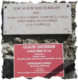 L'étrange escalier de la citadelle de Sisteron