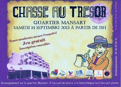 Chasse au trésor à Dijon - Quartier Mansart