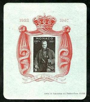 Bloc-feuillet Monaco 1947 - Delcampe