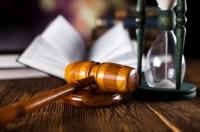 Enchère - Marteau - Sablier - Justice