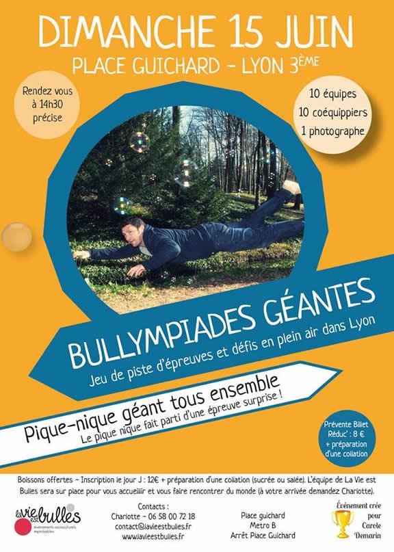 Lyon : La Vie est Bulles organise ses premières Bullympiades Géantes