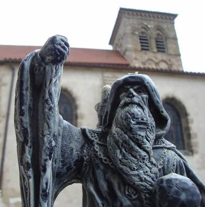 La statue de Gandalf