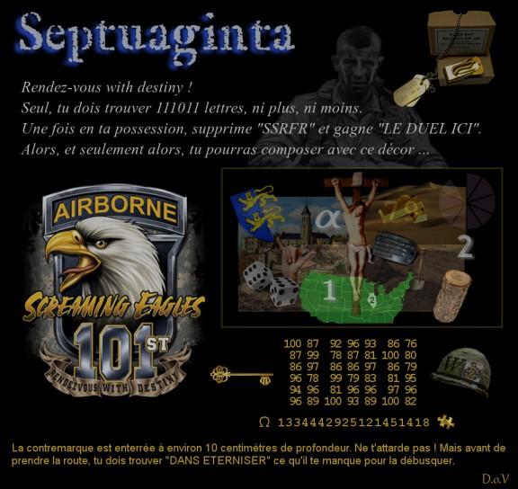 La chasse au trésor Septuaginta : énigme
