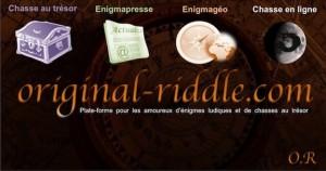 Original Riddle - Une véritable plate-forme pour les amoureux d'énigmes et de chasses au trésor
