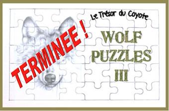 Wolf Puzzles III - Chasse au trésor terminée